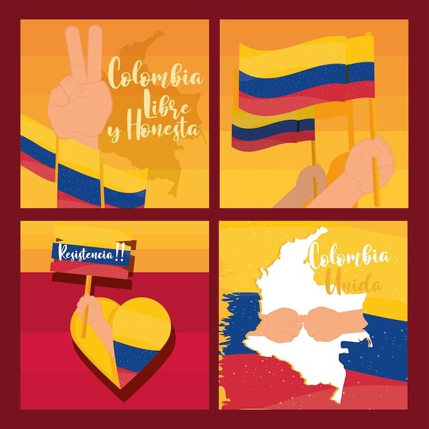Manifestação de protesto na colômbia