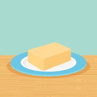 Manteiga de fazenda em cima da mesa