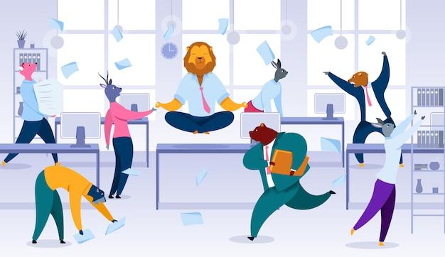 Mantendo a calma, equilíbrio na situação de trabalho estressante