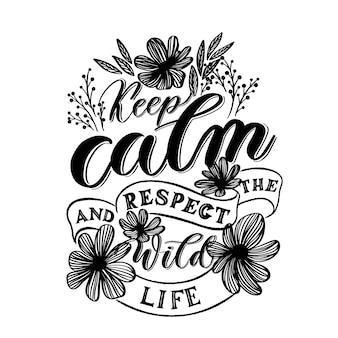 Mantenha a calma e respeite a vida selvagem