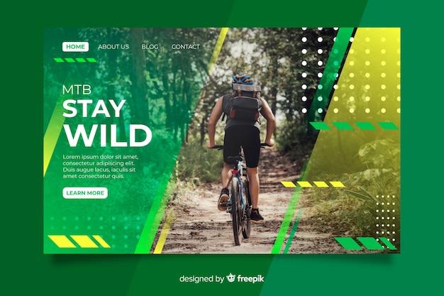 Mantenha a página de destino do esporte selvagem