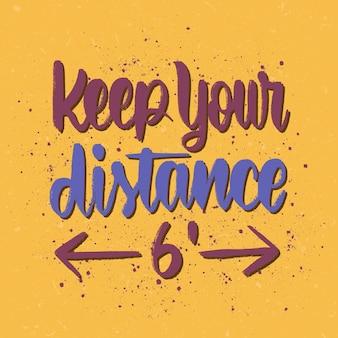 Mantenha as letras à distância