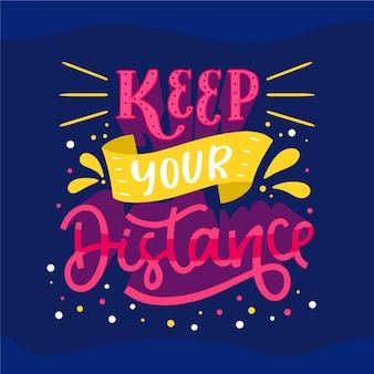 Mantenha as letras da distância