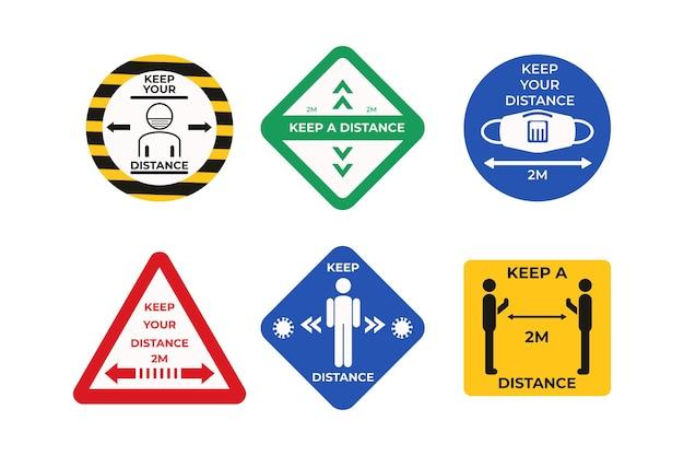 Mantenha distância - recolha de sinais