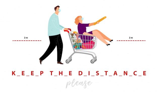 Mantenha o cartaz da distância