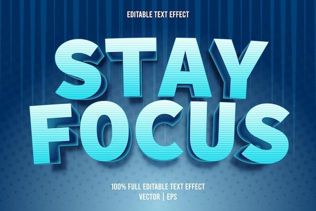Mantenha o foco no estilo de desenho animado com efeito de texto editável