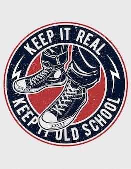 Mantenha-o rótulo da velha escola
