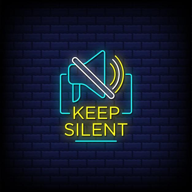 Mantenha o texto silencioso dos letreiros de néon com um botão de mudo