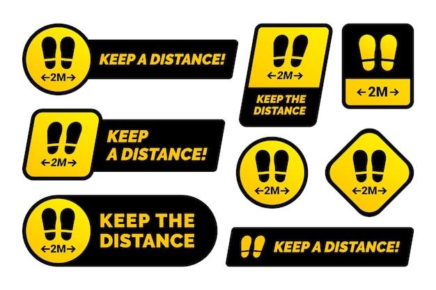 Mantenha sua coleção de sinais de distância