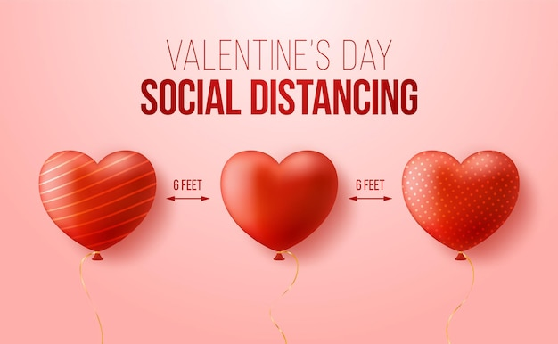 Mantenha uma distância segura ao comemorar o dia dos namorados.