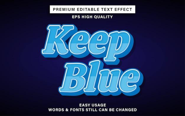 Manter efeito de texto editável azul