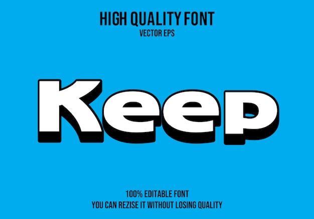 Manter o texto editável effect
