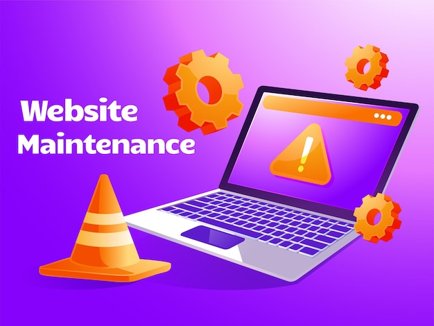 Manutenção do sistema, atualização de páginas da web de desenvolvimento de software na internet com laptop