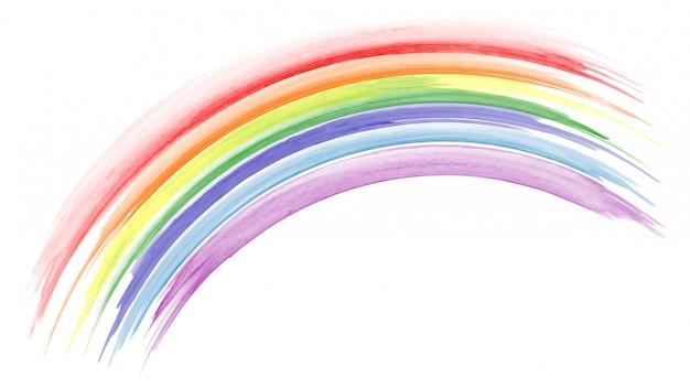 Mão abstrata pintada em aquarela de arco-íris