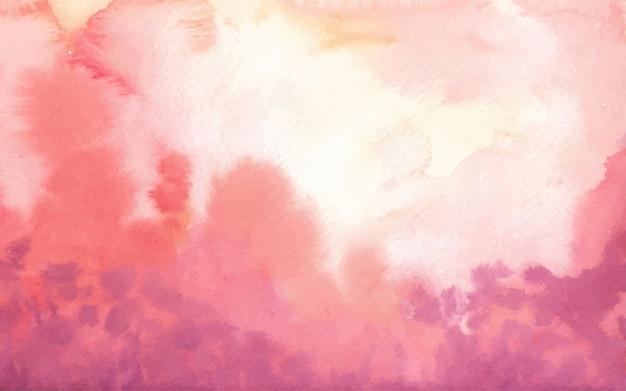 Mão abstrata vermelha pintada em aquarela de fundo