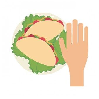 Mão, agarrar, burrito