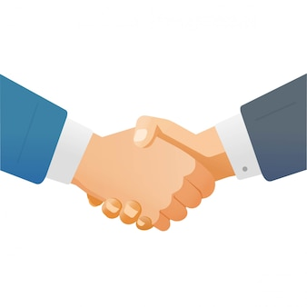 Mão, aperto mão, aperto mão, de, homem negócio, ou, homens negócios apertando mãos, como, sucesso, parceria, negócio, conceito, ilustração, isolado, branco, fundo clipart