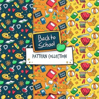Mão atraído de volta à coleção padrão de escola