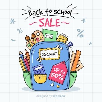 Mão atraído de volta ao fundo de vendas da escola