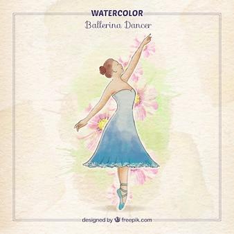 Mão bailarina elegante pintada