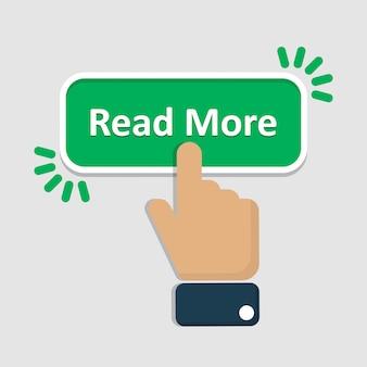 Mão clique em ler mais botão no apartamento