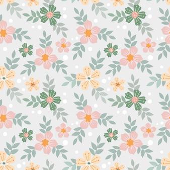 Mão colorida desenhar flores padrão sem emenda para papel de parede de tecido têxtil.