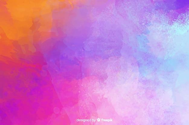 Mão colorida pintada estilo aquarela de fundo