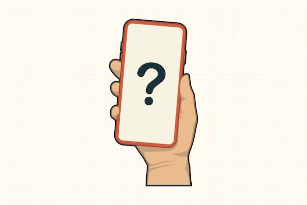 Mão com conceito de telefone celular