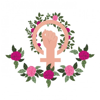 Mão, com, flor, avatar, personagem