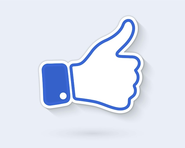 Mão como ícone. ícone de polegar para cima