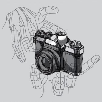 Mão da câmera