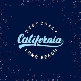 Mão de califórnia escrita letras.