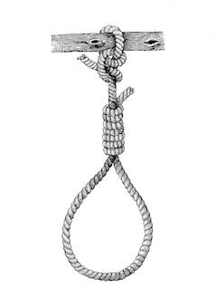 Mão de carrasco vintage desenho, símbolo da morte