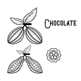 Mão de chocolate desenhado