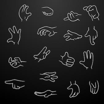 Mão de desenho animado