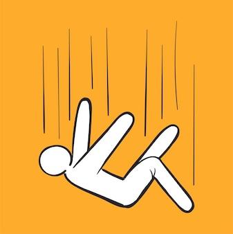 Mão de desenho ilustração do conceito de falha