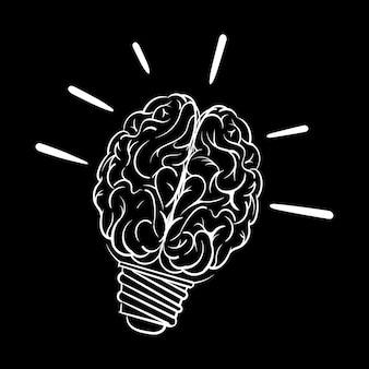 Mão de desenho ilustração do conceito de ideias criativas