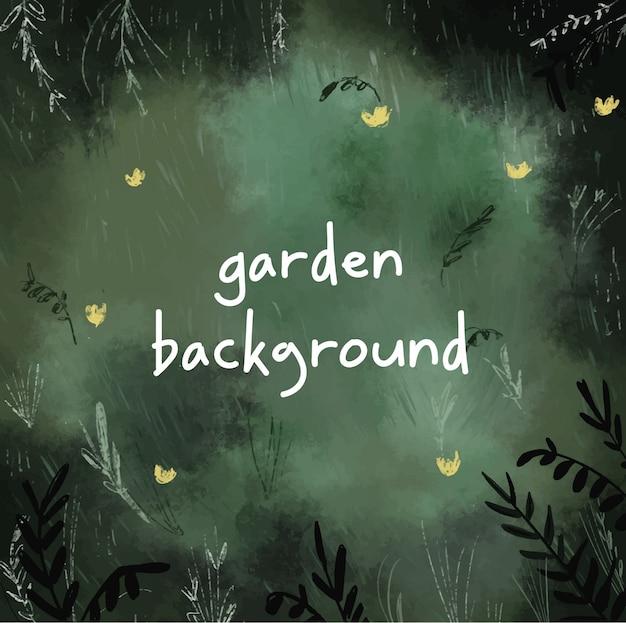 Mão de fundo jardim desenhada