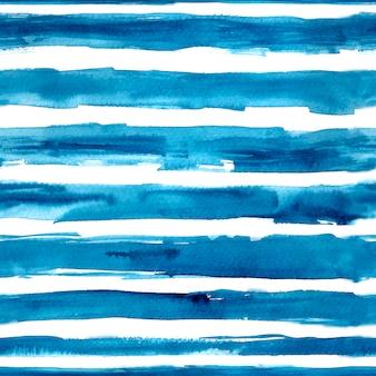 Mão de listras azuis aquarela desenhada
