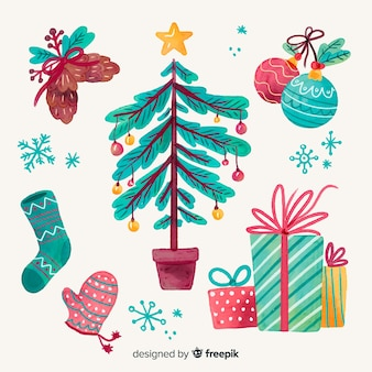 Mão de natal pintada decoração