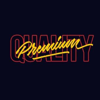 Mão de qualidade premium rotulação cartaz de tipografia