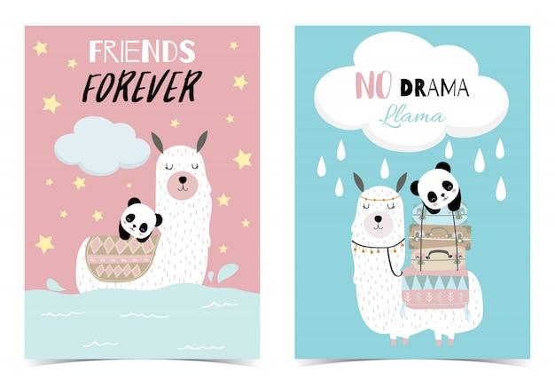 Mão-de-rosa azul desenhado cartão bonito