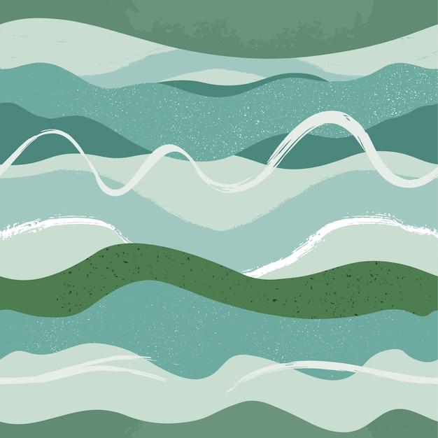 Mão desenhada abstratos padrões sem emenda.