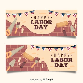 Mão desenhada bandeira do dia do trabalho