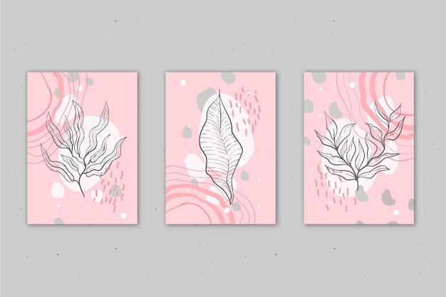 Mão desenhada capas mínimas desenhadas à mão