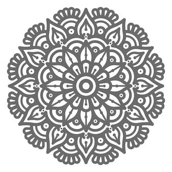 Mão desenhada círculo redondo ilustração linda mandala para conceito abstrato e decorativo