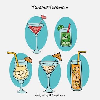 Mão desenhada cocktail coleção