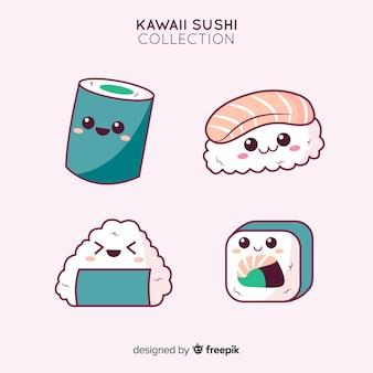 Mão desenhada coleção adorável sushi