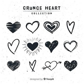 Mão desenhada coleção coração