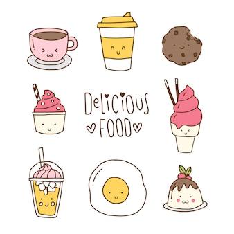 Mão desenhada coleção de alimentos